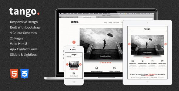 Tango – Responsive HTML5 Template