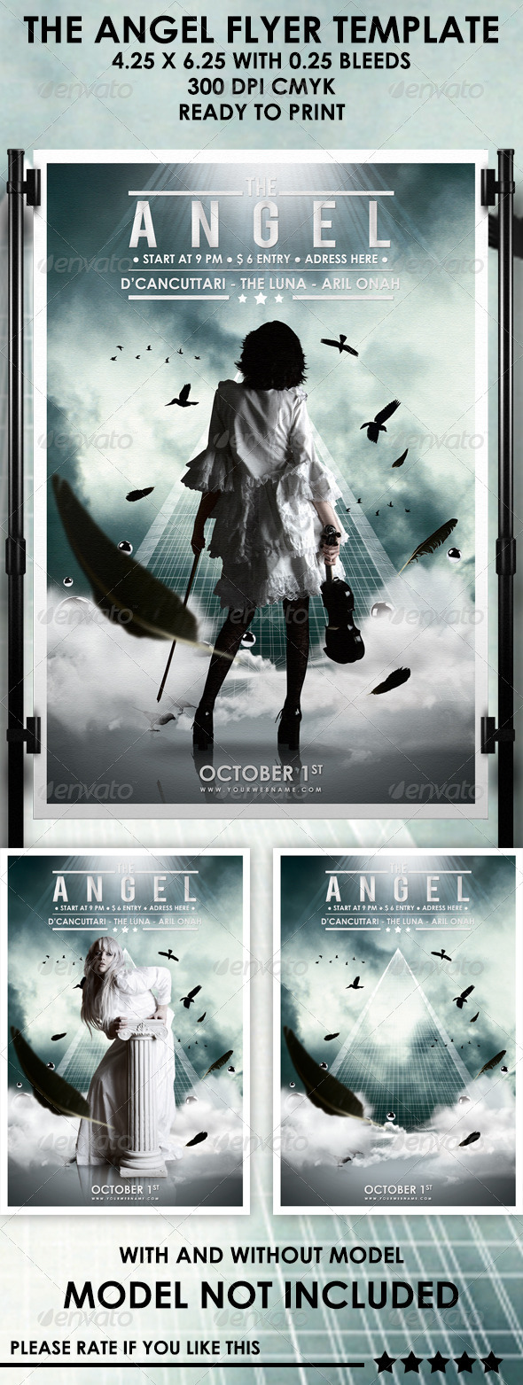 The Angel Flyer Template - Events Flyers