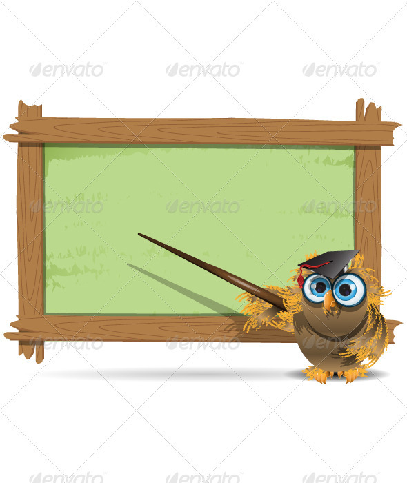 owl teacher - Animals Characters