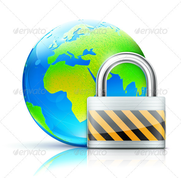 global security concept - Technology Conceptual