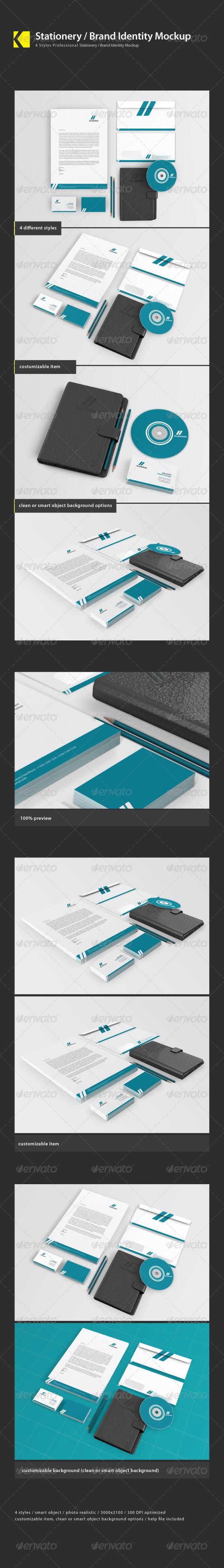 Stationery / Brand Identity Mockups - Stationery Print