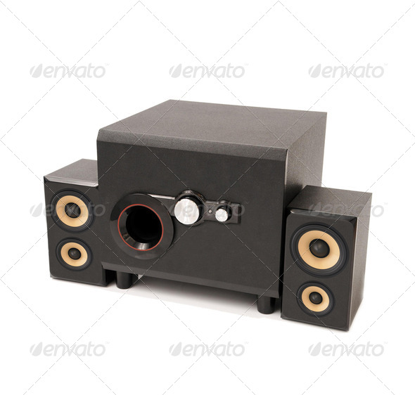 home theater isolated on white - Stock Photo - Images