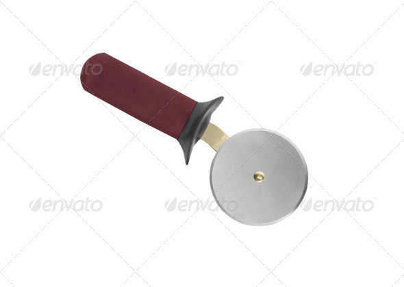 Pizza cutter isolated on white background - Stock Photo - Images