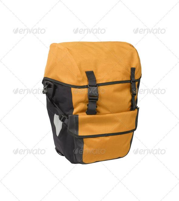 Orange bag isolated on white - Stock Photo - Images