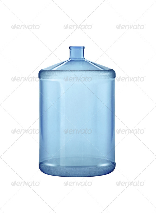 Big water bottle. On a white background. - Stock Photo - Images