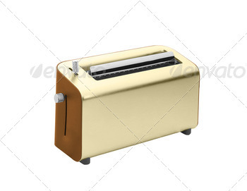 Toaster isolated on white