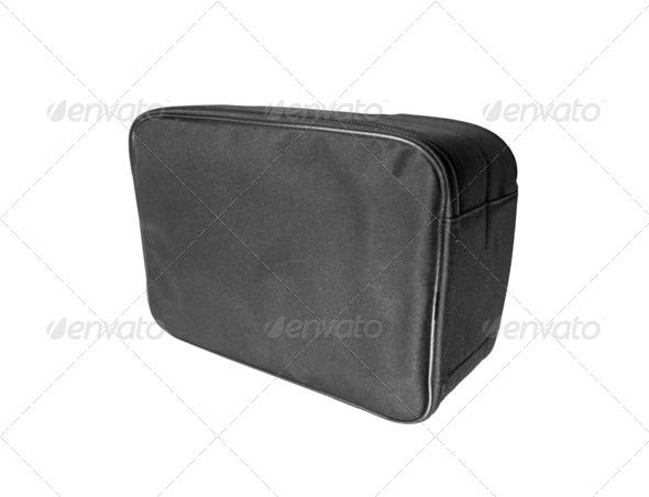 Black bag isolated on white - Stock Photo - Images