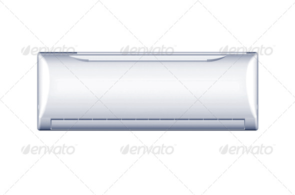 air conditioning system on white background, isolated - Stock Photo - Images