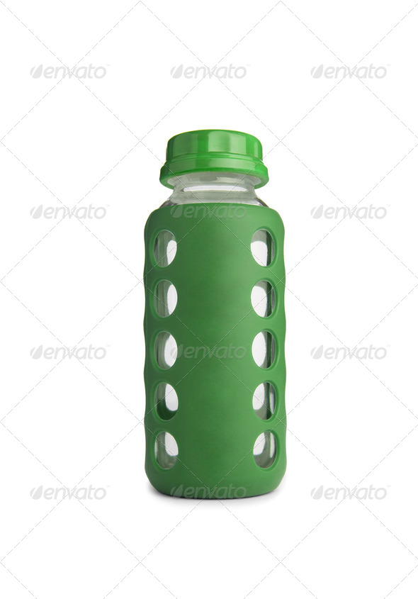 baby bottle without soother - Stock Photo - Images