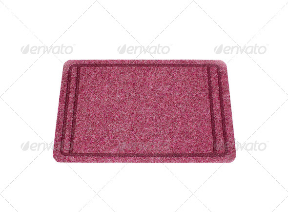 The Doormat isolated on white background - Stock Photo - Images
