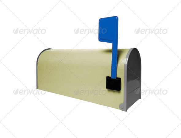 Mailbox isolated on white - Stock Photo - Images
