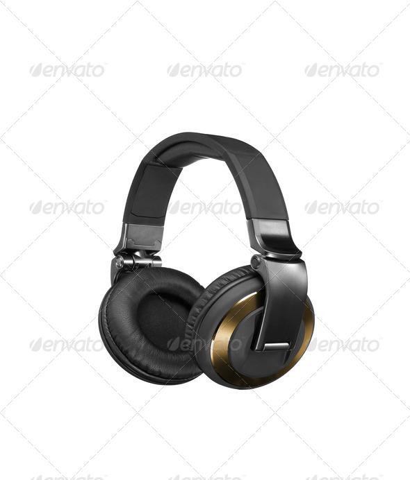 Headphones isolated on white - Stock Photo - Images