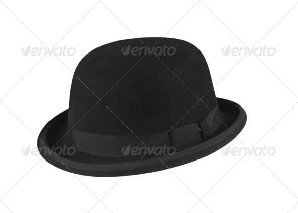 Black hat on the white background - Stock Photo - Images