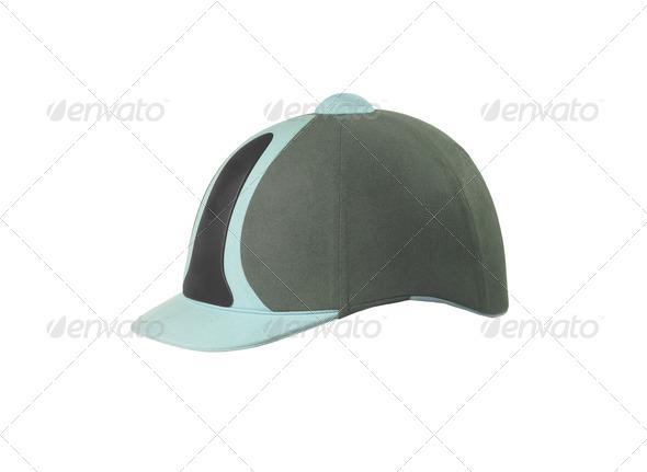 Jockey hat isolated on white - Stock Photo - Images