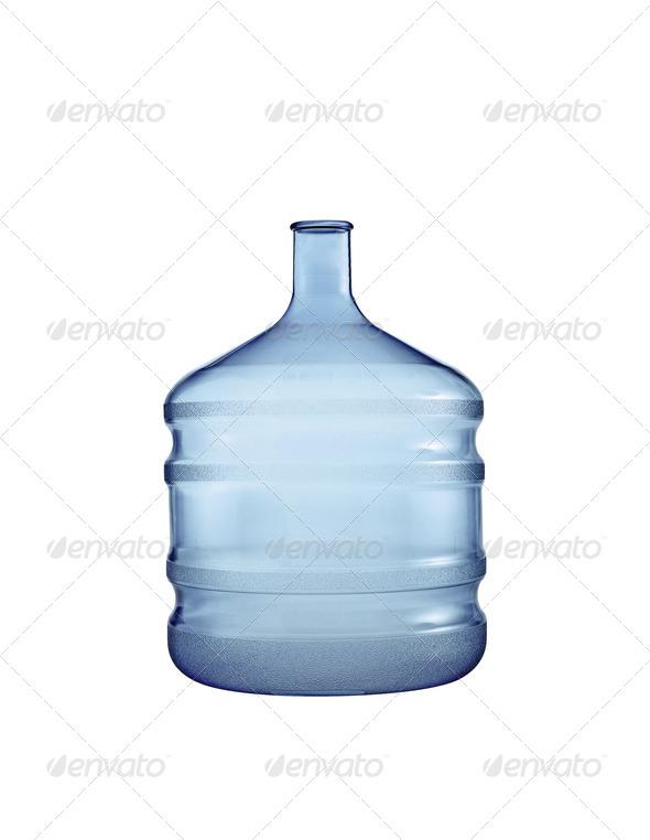 Big plastic bottle. On a white background. - Stock Photo - Images