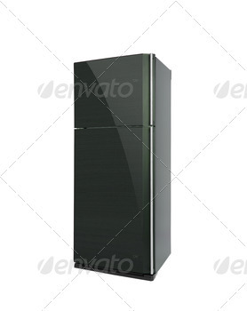 Refrigirator. On a white background.