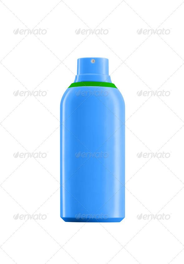 Spray Bottle isolated on white background - Stock Photo - Images