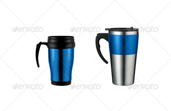 Thermos isolated on white background - Stock Photo - Images