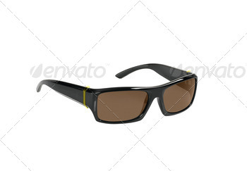 Sunglasses. On a white background.