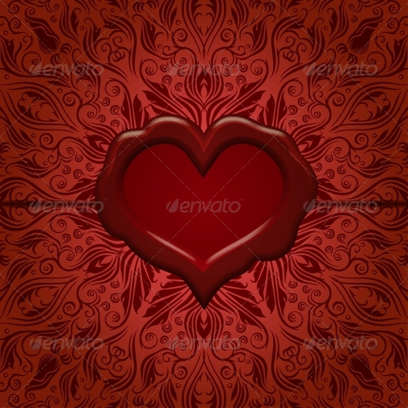 Template Frame Design for Greeting Card - Valentines Seasons/Holidays