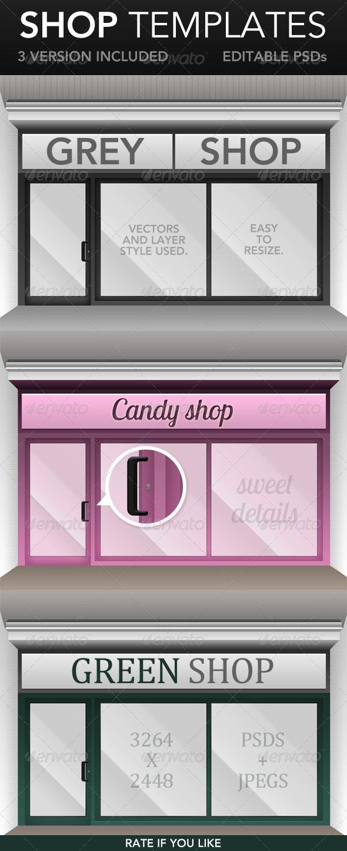 Shop Window Templates - Miscellaneous Illustrations