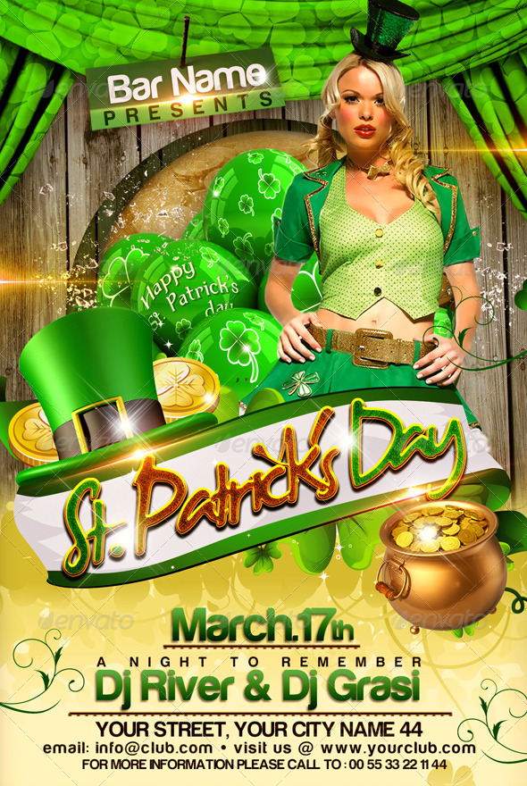 St  Patrick U0026 39 S Day Flyer Template By Newentrydesign
