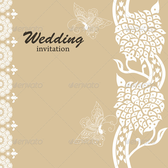 Wedding Card Invitation - Weddings Seasons/Holidays