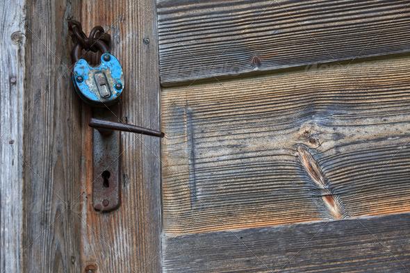 rustic door - Stock Photo - Images