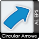 Circular Arrows Two, Three, Four and Five Steps - GraphicRiver Item for Sale
