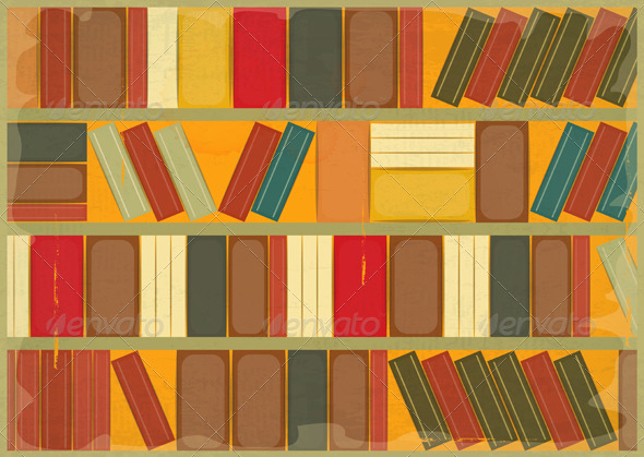 Book Background Retro Style - Backgrounds Decorative