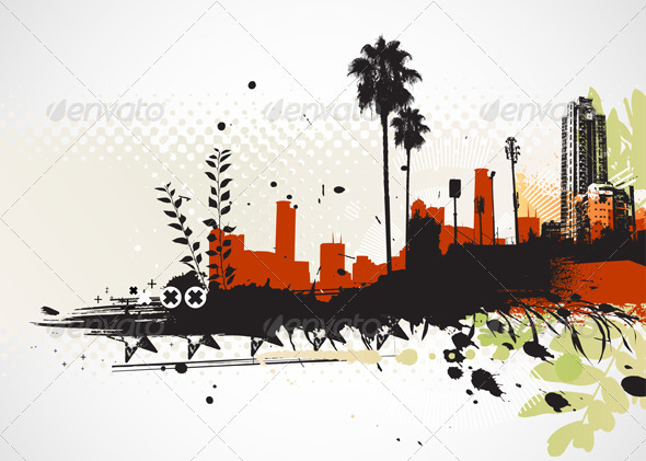 Urban Grunge Background - Conceptual Vectors