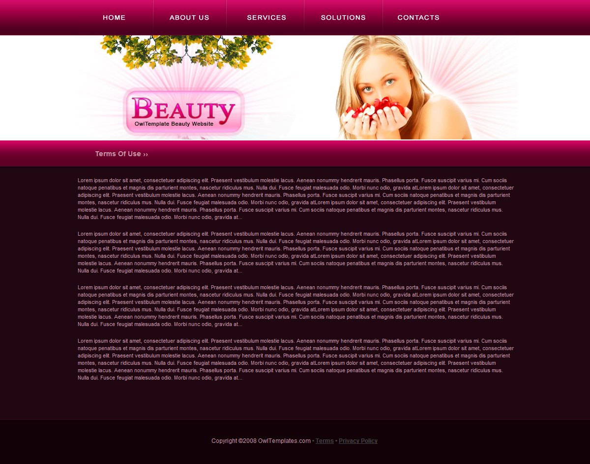 Fashion Health And Beauty Website By Owltemplates