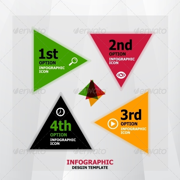 Infographic web banner design template - Web Elements Vectors