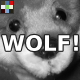 Cartoon Wolf Howl