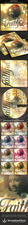 Faithful CD Cover Artwork Template - CD & DVD Artwork Print Templates