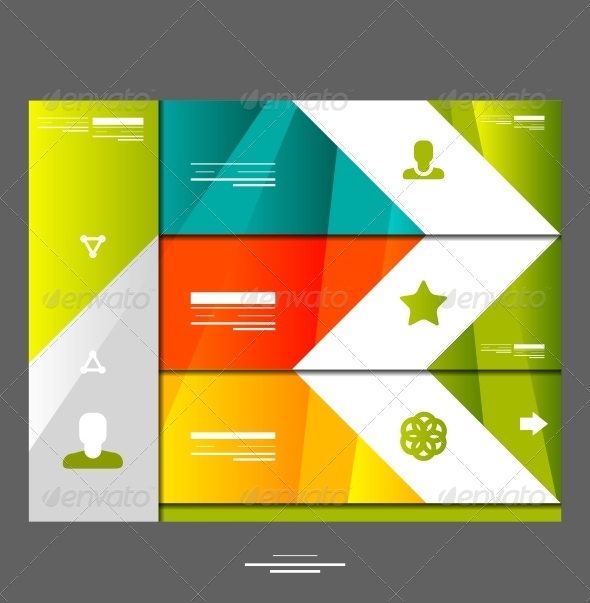 Infographic banner design elements - Web Elements Vectors