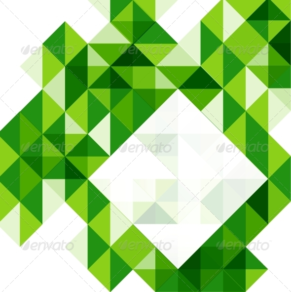 green modern geometric design template by antishock graphicriver