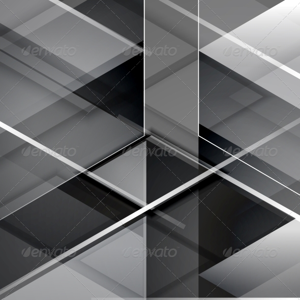 Black modern geometric abstract background - Backgrounds Business