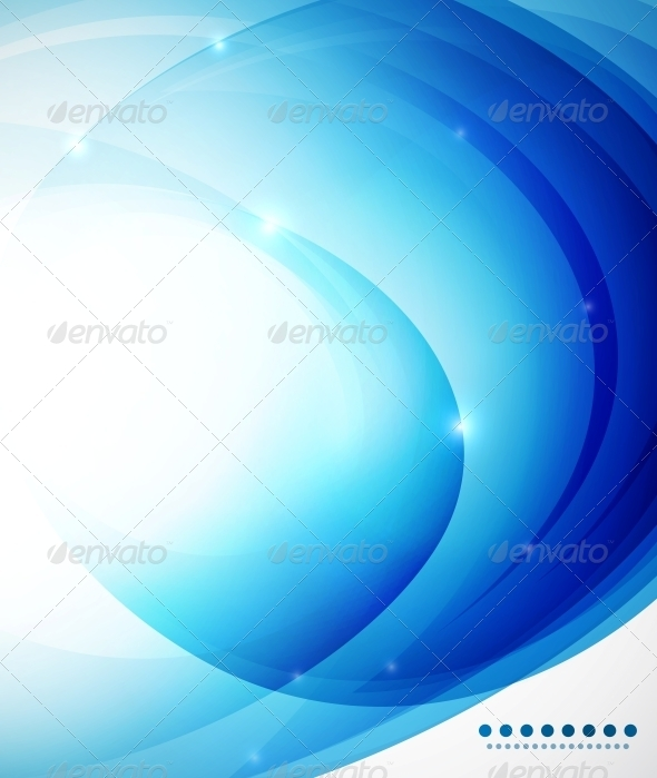 Blue abstract vector background template - Backgrounds Business