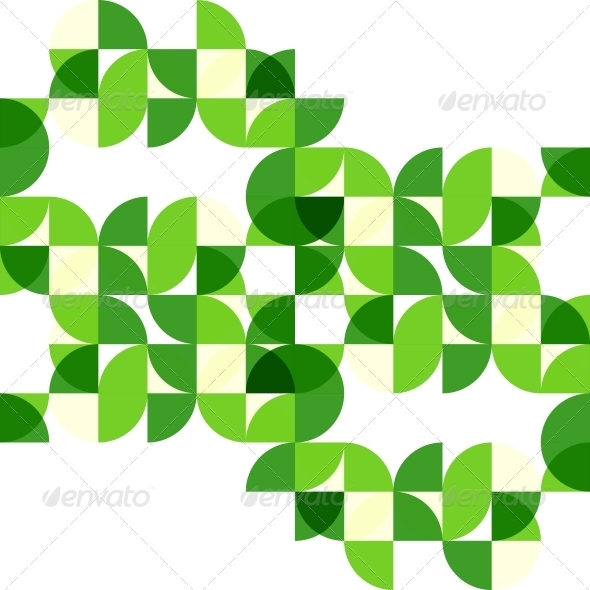 Green modern geometric abstract background - Backgrounds Business