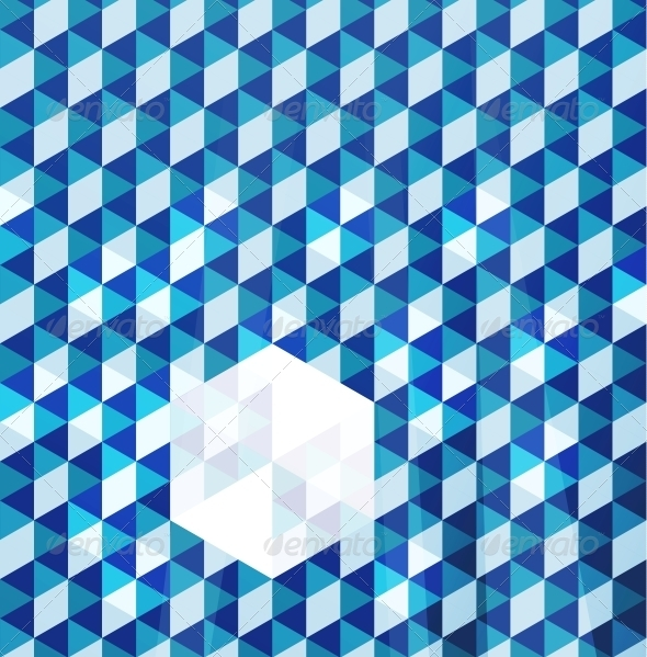 Blue Modern Geometric Design Template - Backgrounds Business