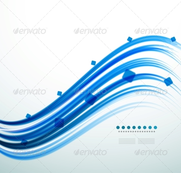 Abstract Blue Swirl Template - Backgrounds Business