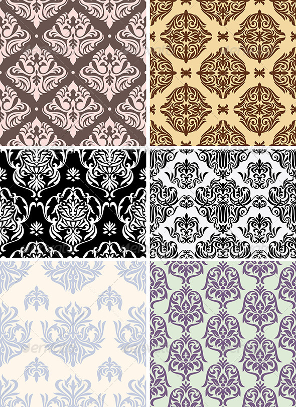 Seamless Retro Wallpapers - Patterns Decorative