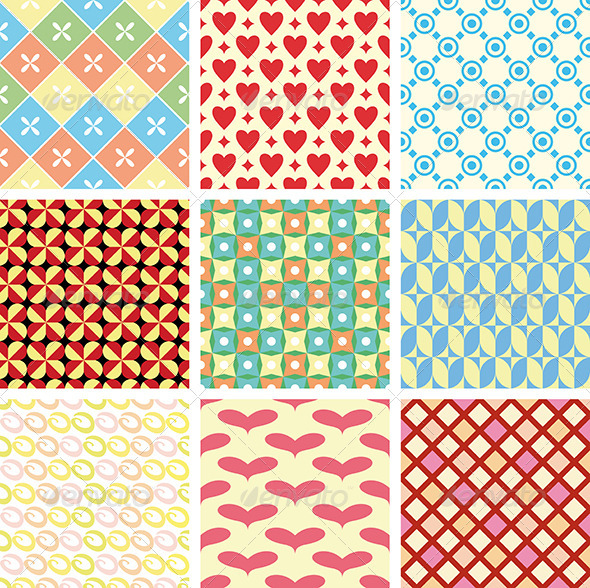 Geometric Vector Patterns - Patterns Decorative