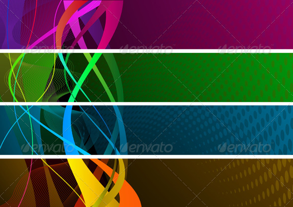 Abstract Banners - Backgrounds Decorative