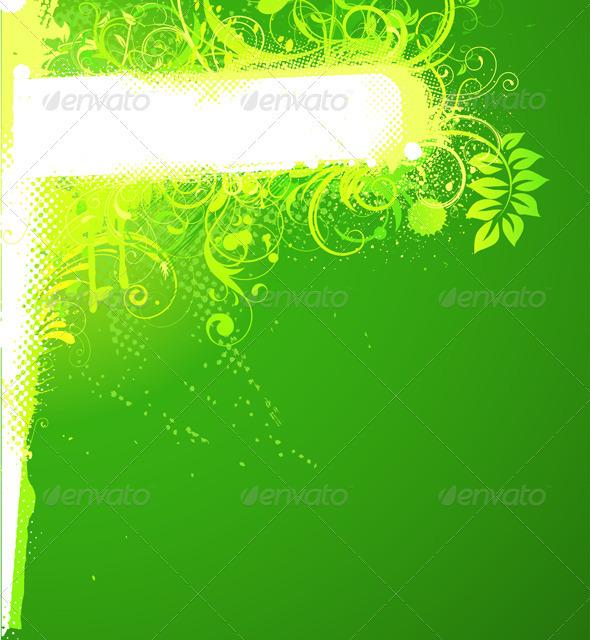 Floral Decorative Banner - Borders Decorative