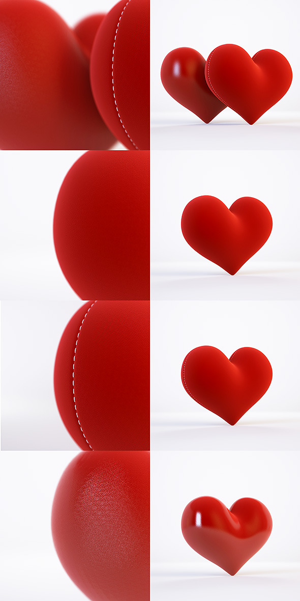 3d model and 3d scene with a heart - 3DOcean Item for Sale