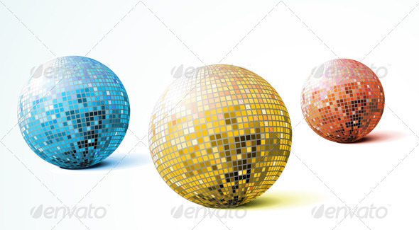 Disco Mirror Balls - Decorative Symbols Decorative