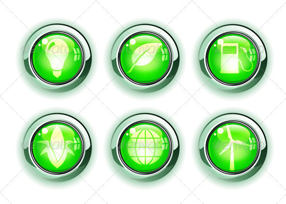Green Ecology Icons - Nature Conceptual