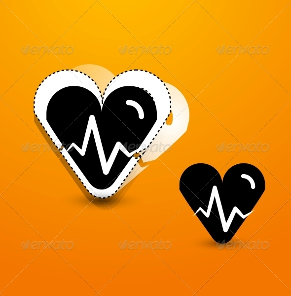 Stylized Black Heart Abstract Background - Valentines Seasons/Holidays